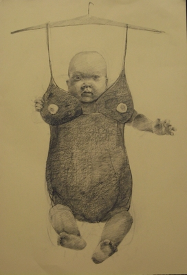 "Jillian Dickson (Ludwig) Charcoal Drawings: ""THIS, THAT""  Graphite, Pencil"