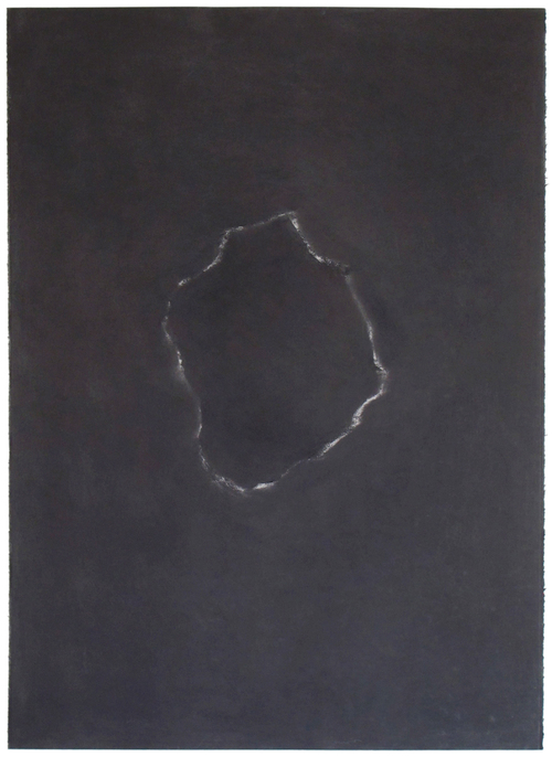 Jill O'Bryan shapes graphite on paper