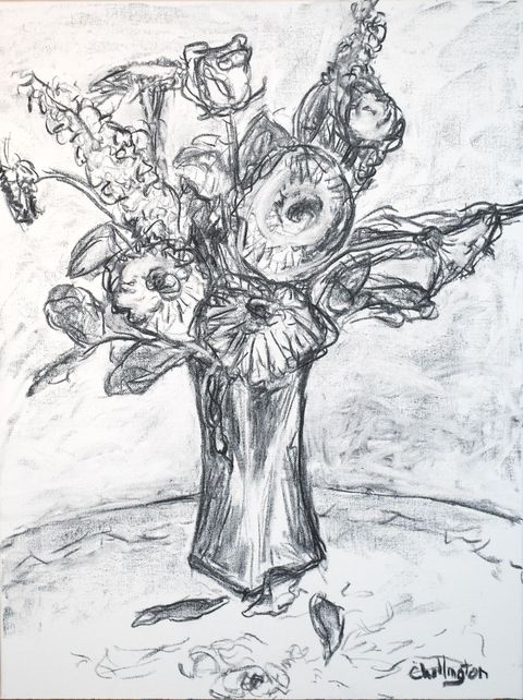 Jim Chillington Still Lifes Charcoal on canvas