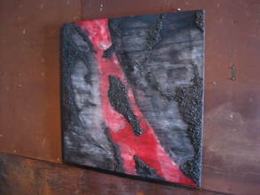 JIM FELICE Painting Charcoal, Acrylic Urethane on Wood Wanel