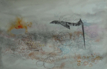 Jim Fultz Works on Paper Watercolor, Graphite on Paper