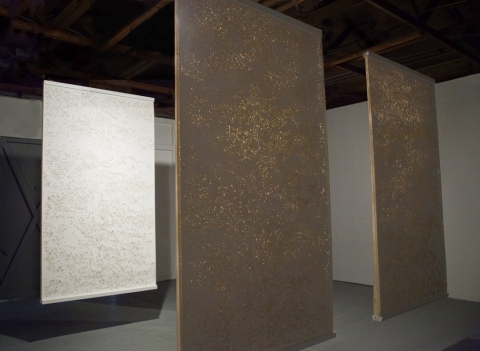 jennifer leigh caine Chronotope - Installation Cut paper, wood