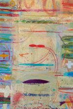 Joan K. Russell GRID mixed media on canvas