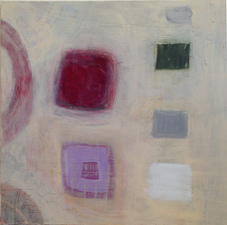 Joan K. Russell  abstract paintings MIXED MEDIA ON CANVAS