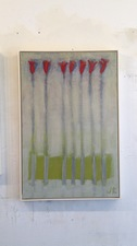 Joan K. Russell flower paintings acrylic on canvas