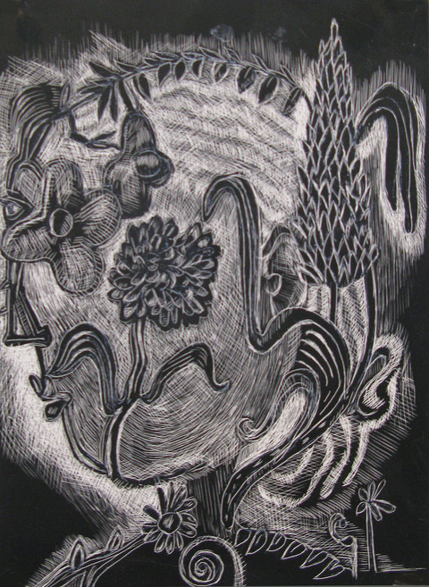 JoAnne Carson Drawings  Scratchboard, masonite
