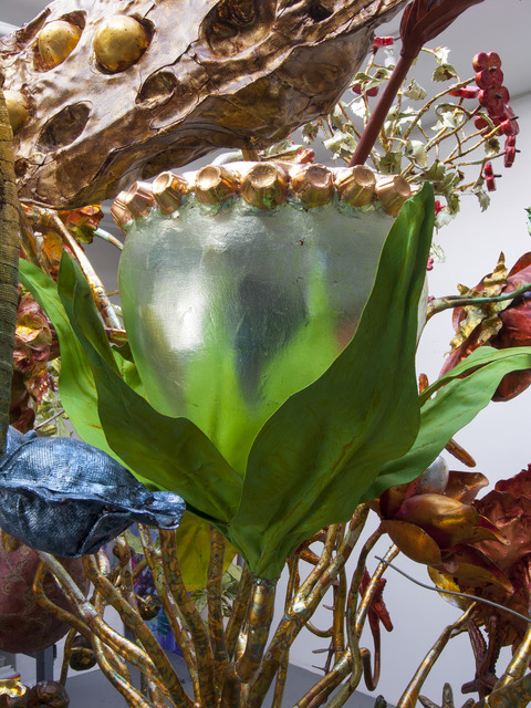 JoAnne Carson Sculptures Thermoplastic, apoxie clay, metal leaf