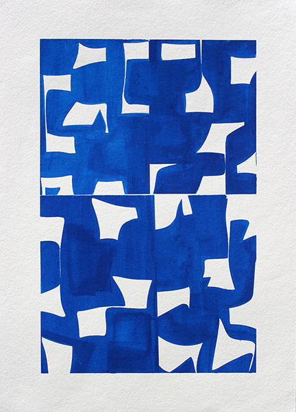 Joanne Freeman 2020 Gouache on handmade paper