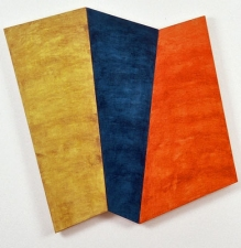 Jodie Manasevit Bricks and Wedges 1991-93 Acrylic on wood panels