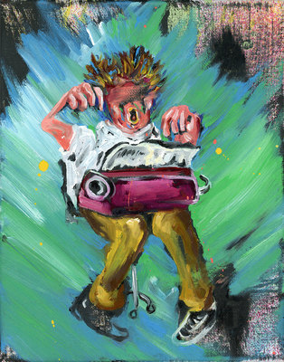 Joe Carrozzo 2016 Oil/acrylic/latex on canvas