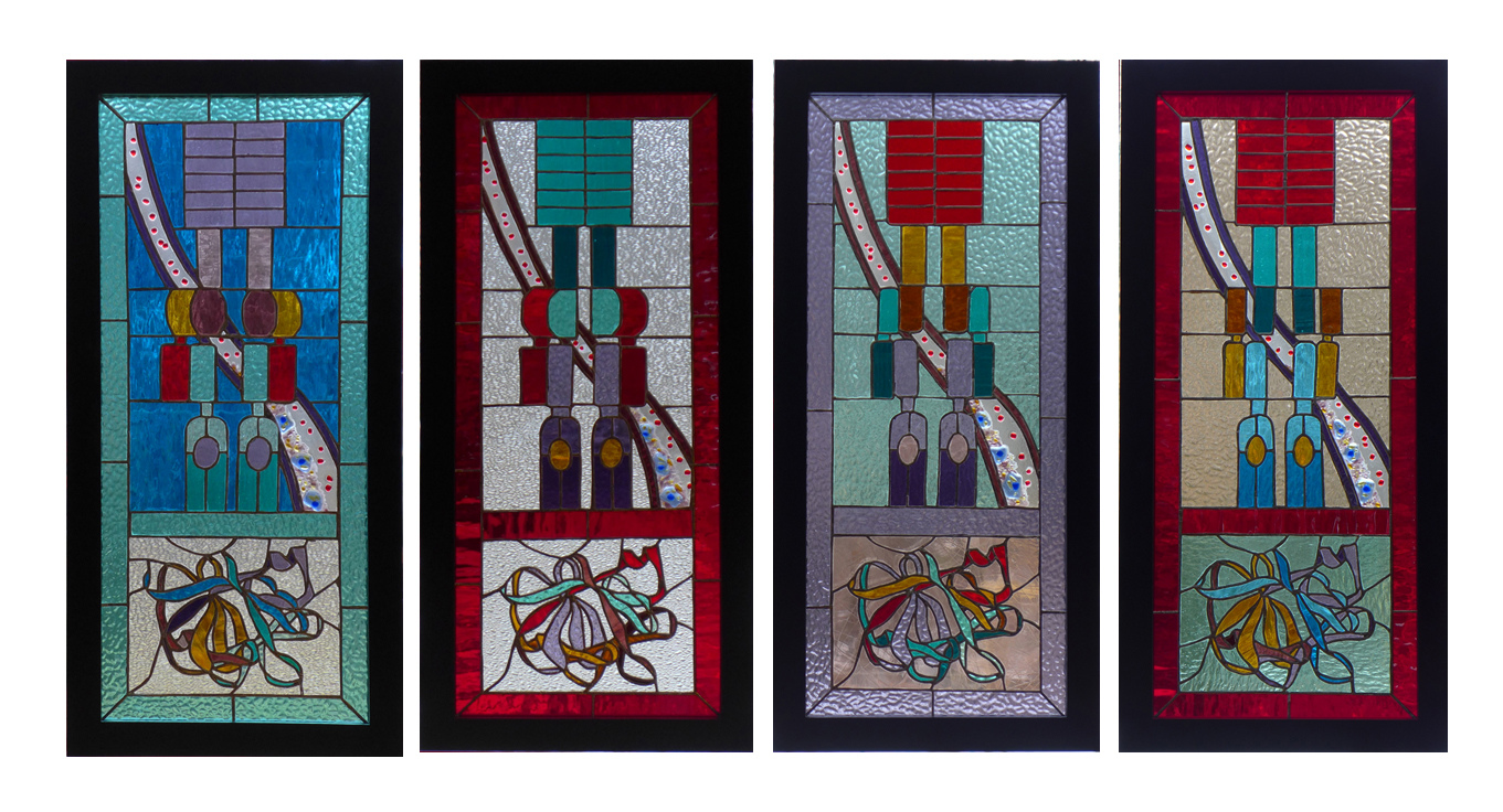Bio-Stained Glass Inflammasome Series [Four Pieces]