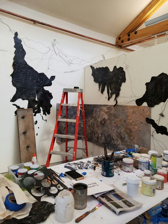 JOËL GERARD LEVASSEUR Advanced Painting Critique - Anderson Ranch - 2016 with Judy Pfaff