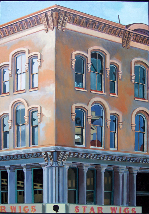Joey P. Mánlapaz  Storefronts Oil on linen