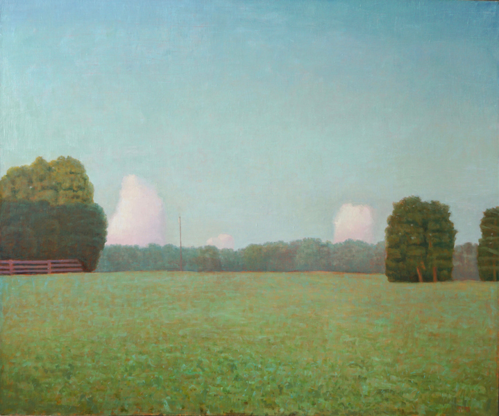 Paintings: 2017 – 2019 Six-Acre Parcel Looking East, Summer Evening #2