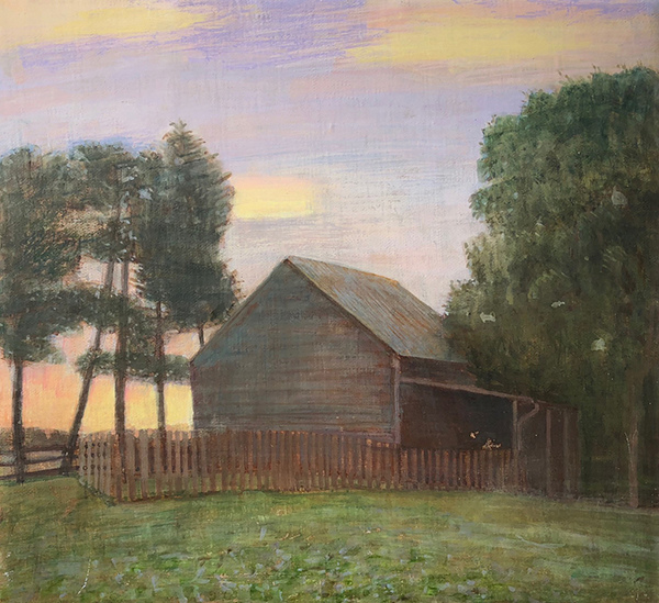 Paintings: 2017 – 2019 Spring Dawn, Barn and Field