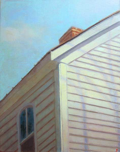 Paintings 2013-2016 Colonial Inn Corner with Tree Shadows