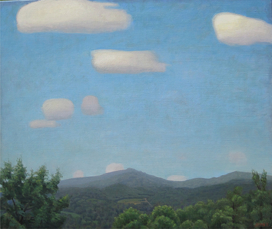 Paintings 2013-2016 Grandfather Mountain, White Clouds