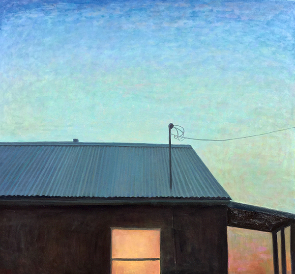 Paintings 2013-2016 House at Dusk, Corona