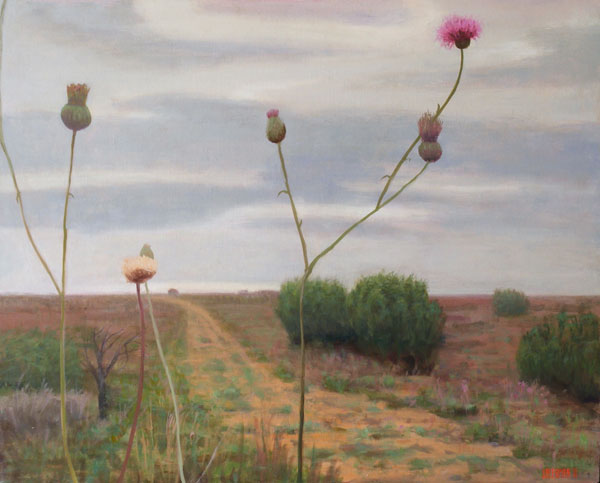 Paintings 2009-2012 Bull Pasture with Thistle