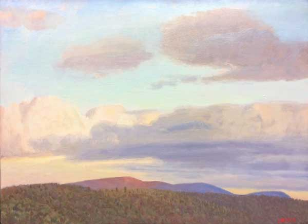 Paintings 2013-2016 Cortona Clouds, Late Afternoon