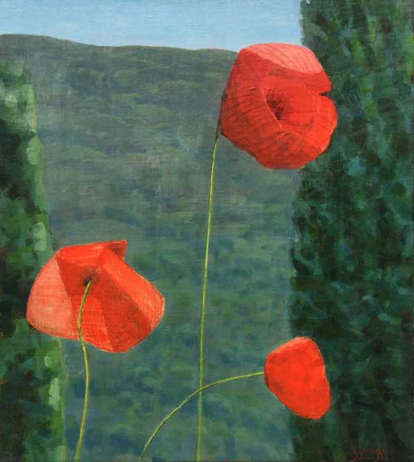 Paintings 2013-2016 Three Poppies, Bramasole