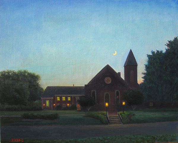 Paintings 2013-2016 Church, Summer, New Moon