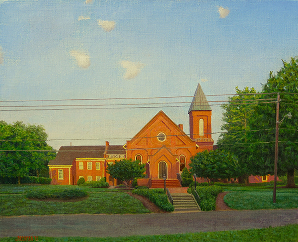 Paintings 2013-2016 Church, Summer, 7am