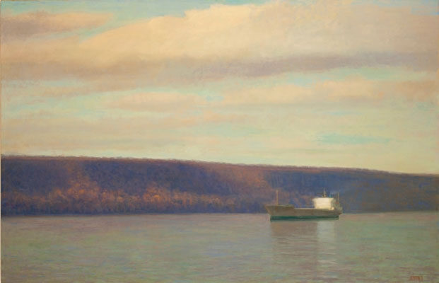 Paintings 2009-2012 Tanker on the Hudson