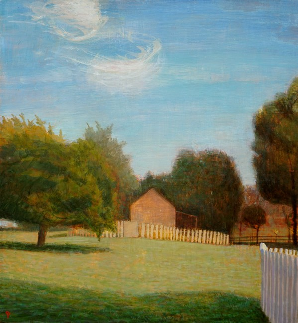 Paintings 2017-2020 Late September Afternoon, Barn and Field