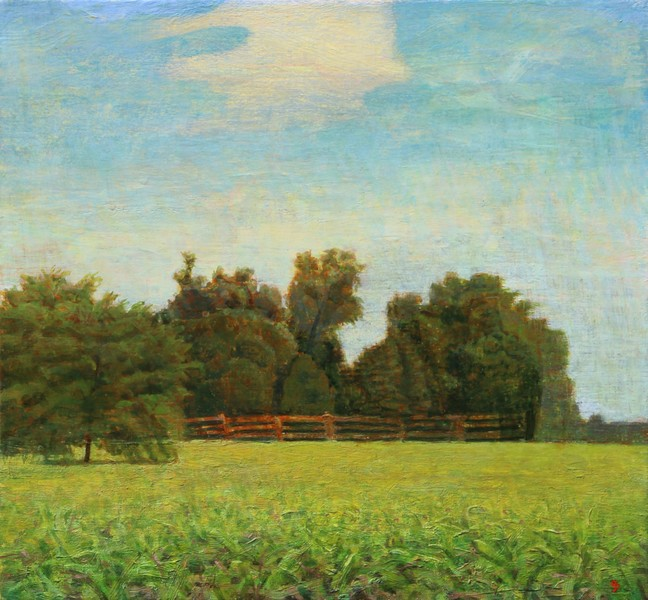 Paintings 2017-2020 Six-Acre Parcel Looking East, Late Morning