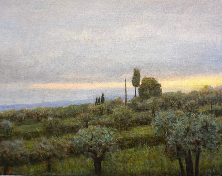 Paintings 2017-2020 Grey Afternoon, Olive Grove