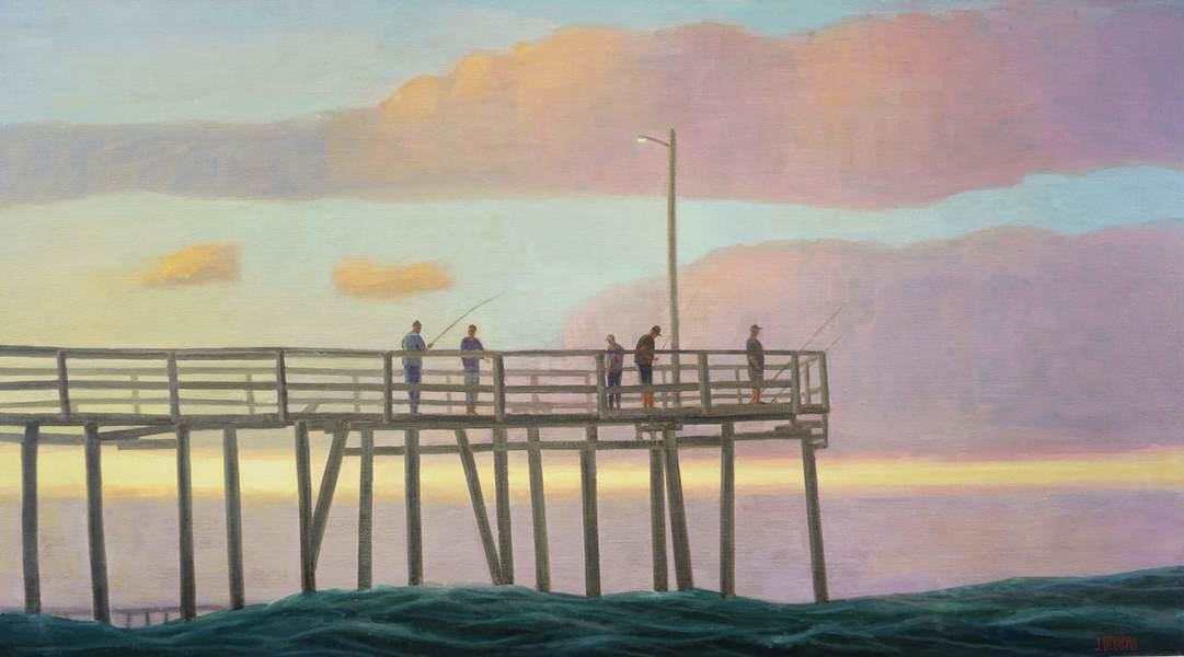 Paintings 2017-2020 Twilight Pier