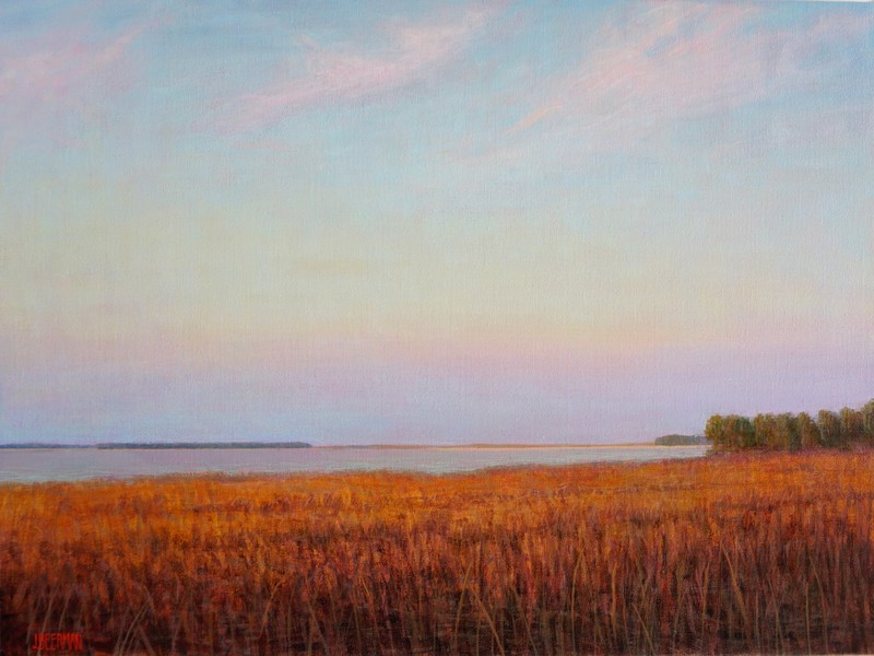 Paintings 2017-2020 Autumn Marsh Twilight