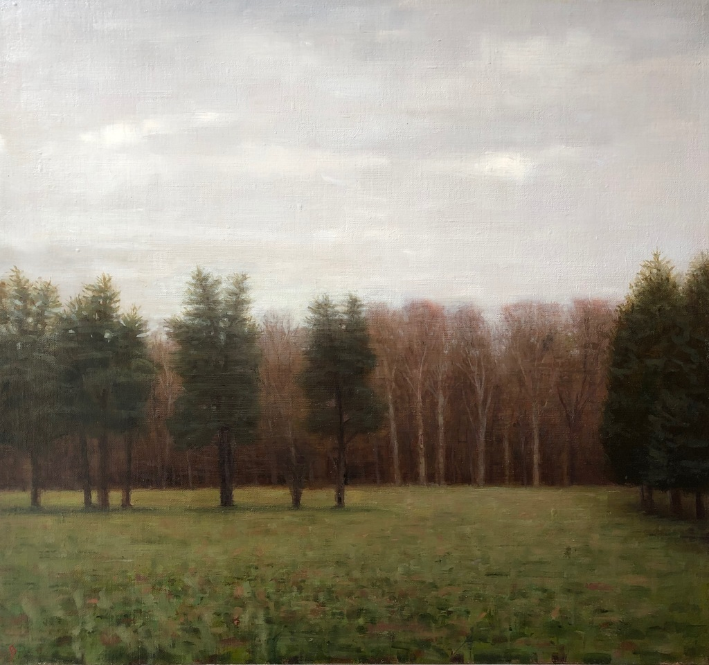 Paintings 2017-2020 South Field, Grey November Day