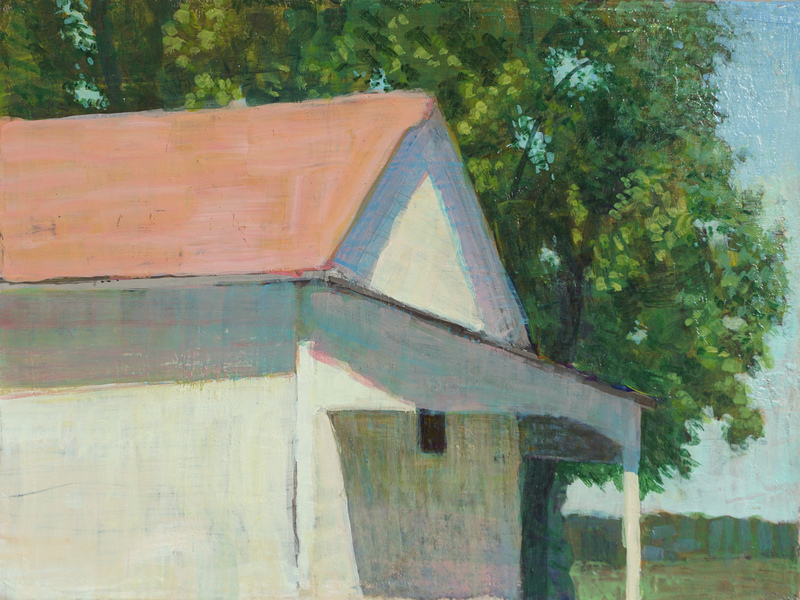 Paintings 2017-2020 Red Roof Barn, Bluebird Farm