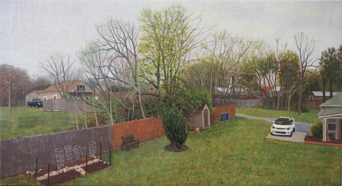 Paintings 2017-2020 View from Studio, Early Spring Grey Day