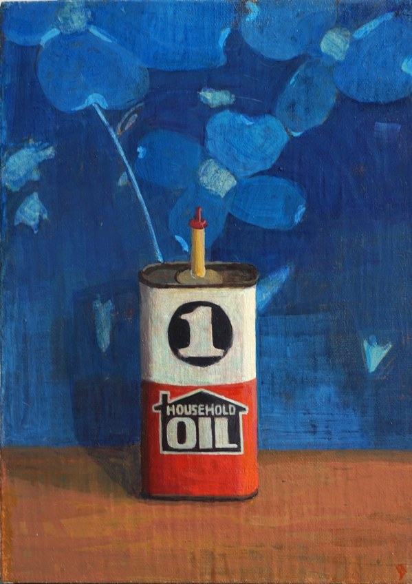 Paintings 2017-2020 3 in 1 Oil Can and Cyanotype
