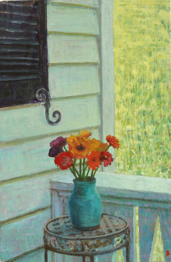 Paintings 2017-2020 Flowers, Front Porch
