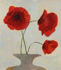 Three Poppies in a Vase, Cortona