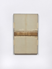 John Fraser work in relief Mixed-Media Collage on Wood Panel Construction