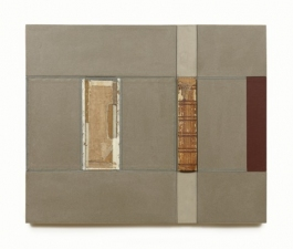 John Fraser work in relief Graphite, Acrylic, and Mixed-Media Collage on Wood Panel Construction