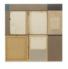 John Fraser work in relief Acrylic and M/M Collage on Wood Panel Construction