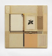 John Fraser work in relief Mixed Media Collage on Wood Panel Construction with Found Objects