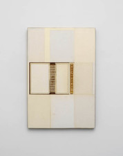 John Fraser work in relief Acrylic, Graphite Wash, Inlaid Mixed Media and Paper Collage, on Wood Panel Construction