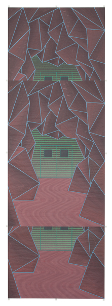 John Hodany EXHIBITION 'EMBEDDED' 2012       Acrylic on paper
