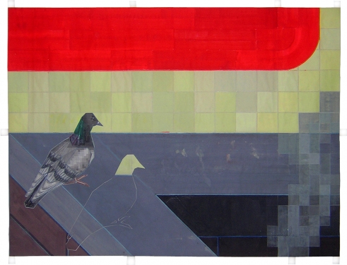 John Hodany SMALL WORKS ON PAPER-MORE COMING SOON acrylic on paper inlay