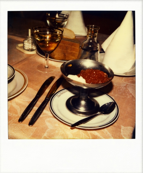 Russian Polaroids Private club dinner