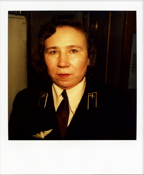 Russian Polaroids Train attendant