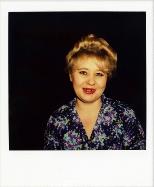 Russian Polaroids Tallin blonde