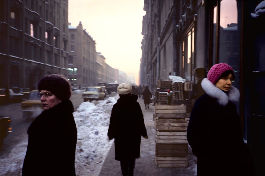 Russia 1981 Three women in street